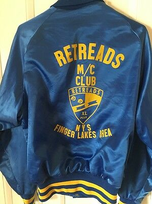 "Vintage Motor Cycle Club Jacket "" Retreads"" NYS Finger lakes Area"