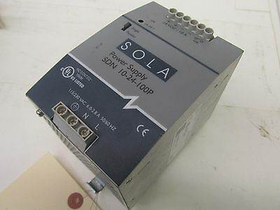 SOLA Power Supply SDN 10-24-100P 115/230VAC 6.0-2.8A 50/60Hz 41920LR