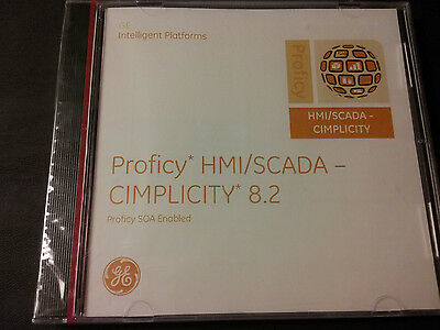 New Sealed Ge Proficy Hmi/scada-Cimplicity 8.2 Software