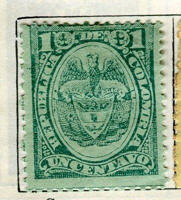 COLOMBIA;  1890 early classic issue Mint unused 1c. value
