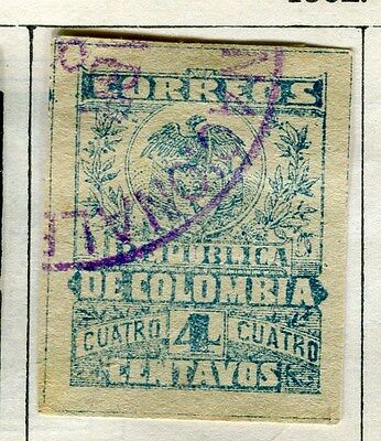 COLOMBIA;  1899 early classic issue used 4c. value