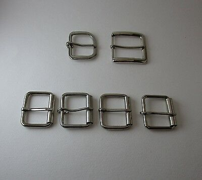 Lot of 6 Belt Buckles Various Sizes Sewing