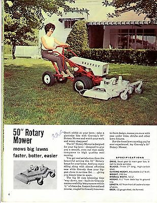 Gravely 20-Page Advertising Brochure (1960's)