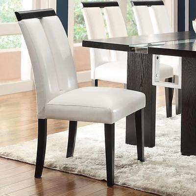 Kenneth Contemporary Dining Chair in White Vinyl  by Coaster 104563 - Set of 2