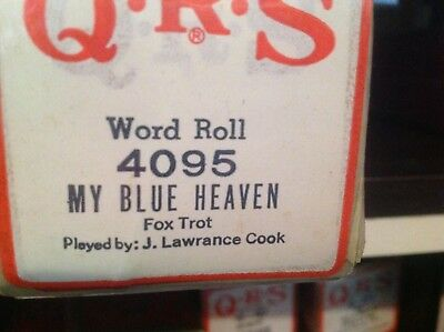 My Blue Heaven   Brand New Pianola  Player Piano Roll