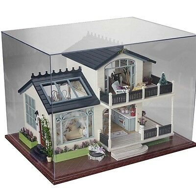 New DIY Kit Dollhouse Miniature Dolls House Model with Furniture LED Light Music