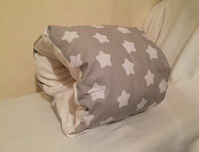 Grey And White Star Baby Feeding Support Pillow