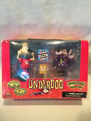 B20) UNDERDOG & RIFF RAFF LIMITED EDITION Exclusive Toy Products 1998 New in Box