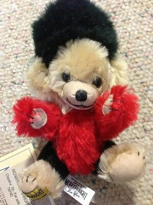 Vintage Merry Thought Cheeky Parade Mohair Bear England Buckingham Palace Guard