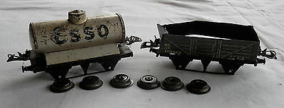 Vintage Hornby O Gauge Esso Tank Wagon & Another Parts Repair