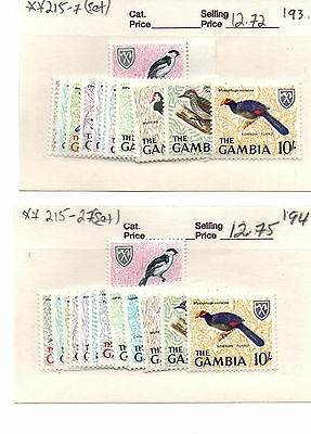 Gambia Bird Stamps