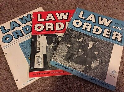 Lot Of 3 Vintage Law And Order Police Magazines 1959-1960 Cool !!