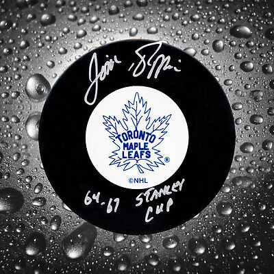 Jim Pappin Toronto Maple Leafs SC Years Autographed Puck