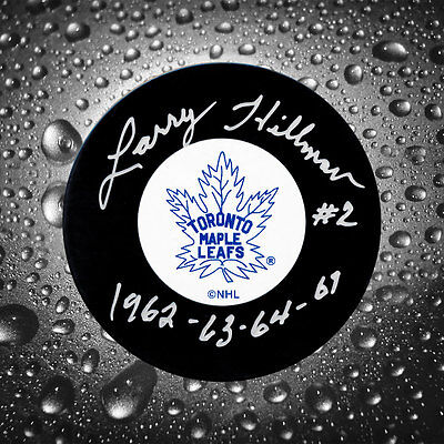 Larry Hillman Toronto Maple Leafs SC Years Autographed Puck