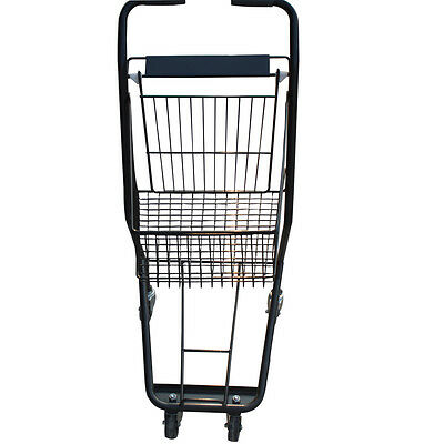 Small Grocery Shopping Cart Metal Push Store Food