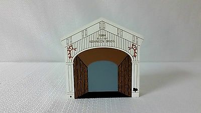 "1996 The Cat's Meow Faline 96 Covered Bridge Series ""Kennedy Bridge"""