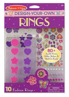 NEw Melissa and Doug Design Your Own Rings - Kids Arts Craft Activity Set DYO