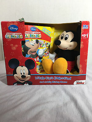 MICKEY MOUSE CLUBHOUSE Book u0026 Plush Toy LOOK u0026 FIND DISNEY 18M+ Gift