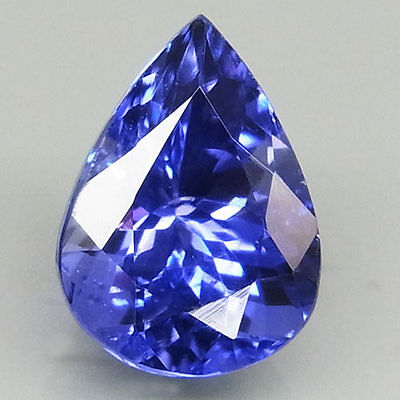 2.16ct.RESPLENDENT GEM! 100%NATURAL TOP PURPLISH BLUE TANZANITE D BLOCK AAA!