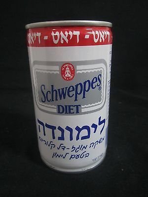 Schweppes  limonade   diet : a 330 ml  empty  steel  can, israel, 80's