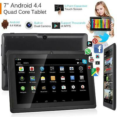 "7"" Inch Android Tablet 8GB Quad Core 4.4 Dual Camera Bluetooth Wifi Tablet UK"