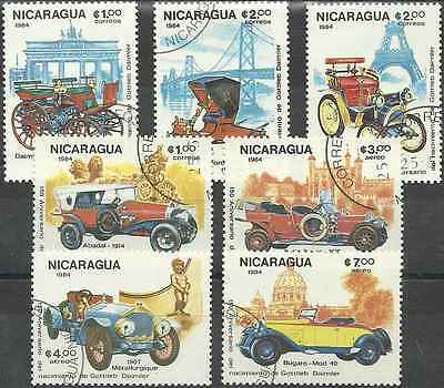 Timbres Voitures Nicaragua 1338/41 PA1065/7 o lot 6320