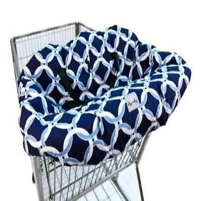 Itzy Ritzy Shopping Cart & High Chair Cover Social Circle Blue MYTODDLER New
