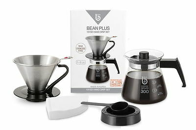 BeanPlus Hand Drip Set Dutch Cold Brew Coffee Maker Korea 101SD Cafe Stainless
