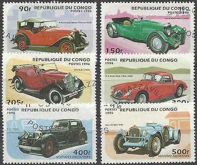 Timbres Voitures Congo 1026A/F o lot 6332