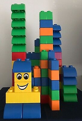Lego Quatro Large Size Building Bricks for 1 - 3 Year Olds ~ 62 Assorted Blocks