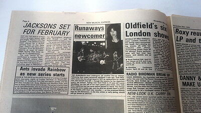 RUNAWAYS / Mike OLDFIELD 'news' 1978 UK ARTICLE / clipping