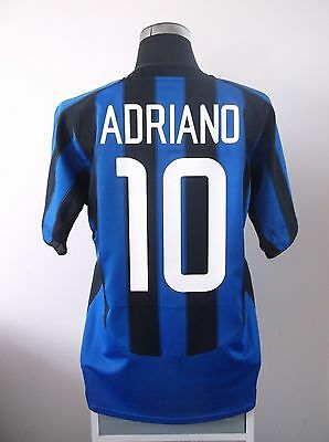 ADRIANO #10 Inter Milan Home Football Shirt Jersey 2003/04 (L)