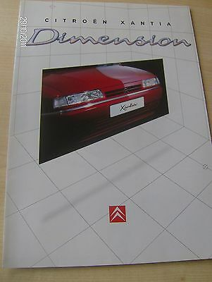 CITROEN XANTIA DIMENSION  SALES BROCHURE 1996   #CitXan04