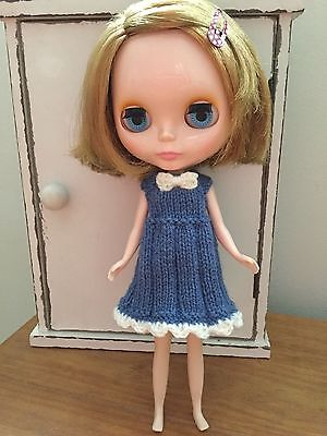 Blythe Doll Outfit clothes Hand Knitted Dress