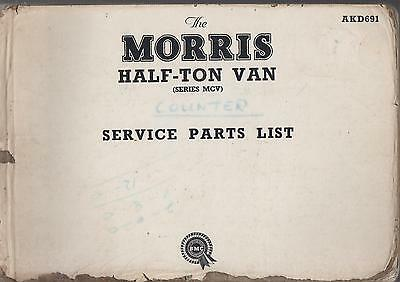 Morris Cowley Mcv Series Half-Ton 1950-1956 Orig.factory Service Parts Catalogue