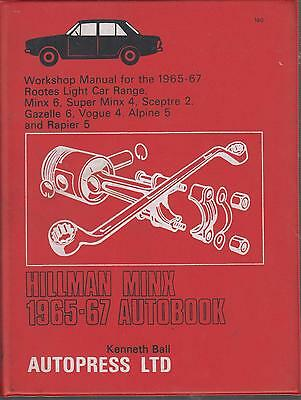 SUNBEAM ALPINE SERIES V 2-SEATER 1725 cc 1965-1967 OWNERS WORKSHOP MANUAL *VGC*