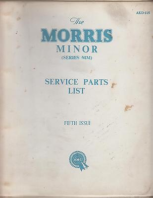 Morris Minor Mm Series 1948-1952 Original Factory Service Parts Catalogue