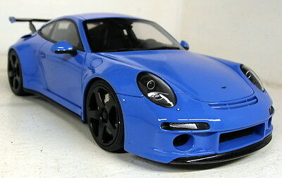 GT Spirit 1/18 Scale GT113 RUF RTR Porsche 911 991 Blue Resin cast model car