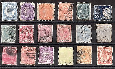 British Commonwealth Victorian collection x 18 values WS3236
