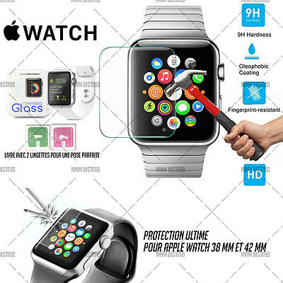 Screen Protection Film Tempered Glass Apple Watch 38 Mm And 42 Mm + 2 Wipes