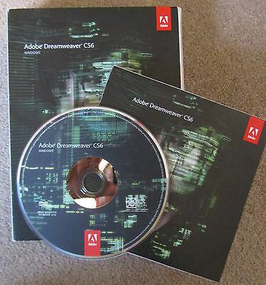 Adobe Dreamweaver CS6 Windows Platform FULL RETAIL DVD PN:65168512