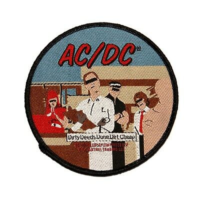 AC/DC ACDC Dirty Deeds Done Dirt Cheap Rock Music Woven Sew On Applique Patch