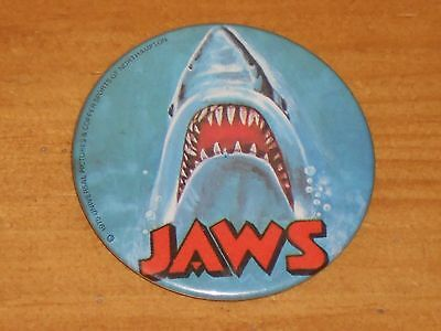 Vintage Original Large 1975 Jaws Film Movie Badge