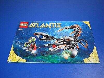 Lego Atlantis 8076 Only Construction Bauanleitung