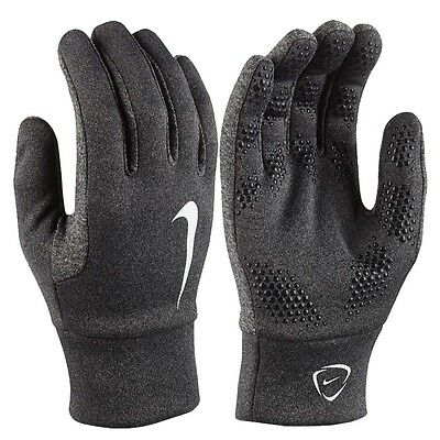 Nike Hyperwarm Field Player Adults Mens Training Football Gloves-Light&Dark Grey
