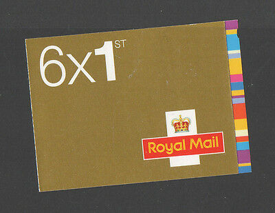 GB - 2008 - 6 x FIRST CLASS - SMILERS STAMPS - BARCODE BOOKLET - QA4