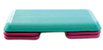 The Original Aerobic Step Adjustable Stepper Board - Turquoise/purple - 3 Levels