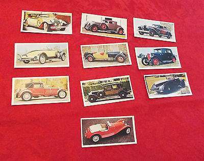 Carreras Ltd Craven Black Cat Cigarette Cards Vintage Cars (Full Set) 1972