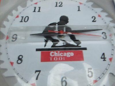 Vintage Saw Blade 10 inch wall clock Battery Chicago tool New in damaged package