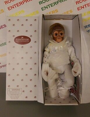 "Ashton Drake Galleries BABY BABU 16"" Monkey/Orangutan Reborn Doll NEW Boxed COA"